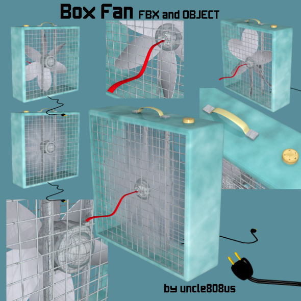 Box Fan FBX OBJ - 3DOcean Item for Sale