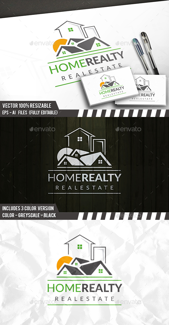 Modern Properties Logo - Buildings Logo Templates