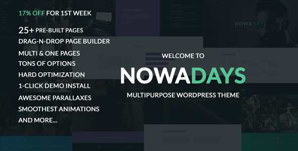 NowaDays – Multipurpose One/Multipage WordPress Theme