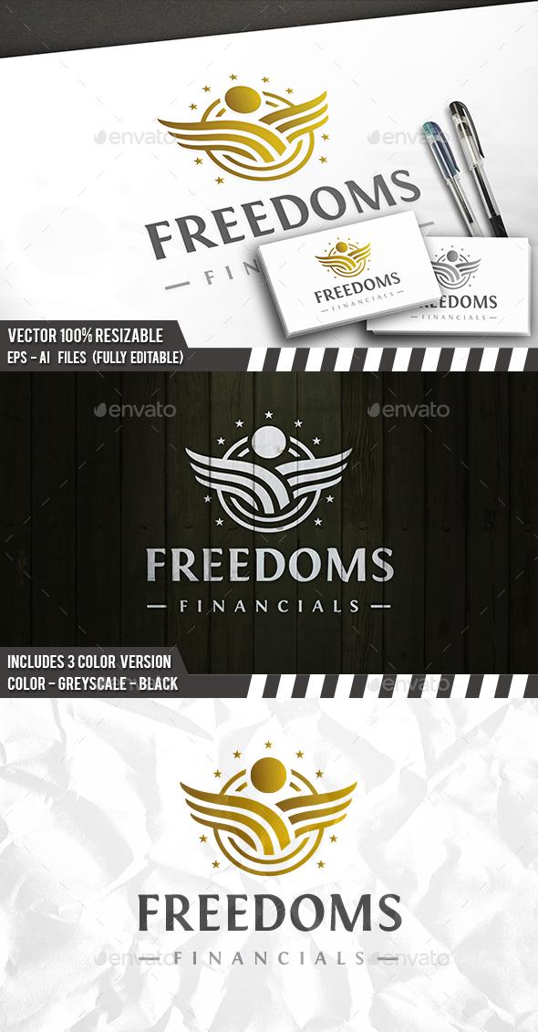 Freedom Emblem Logo - Company Logo Templates