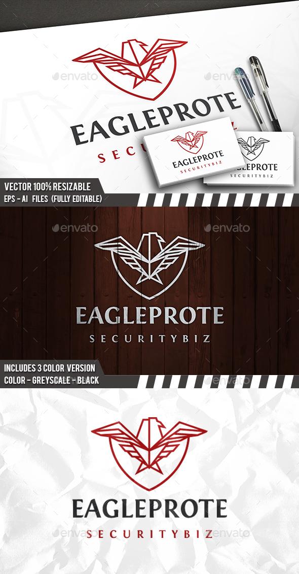 Eagle Protect Logo - Animals Logo Templates