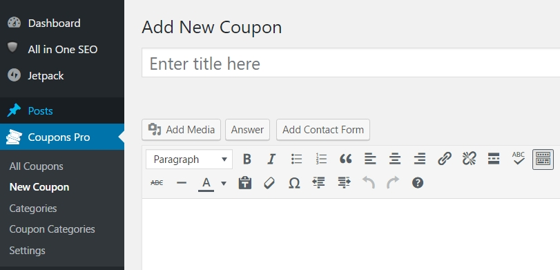 Wp coupon pro plugin