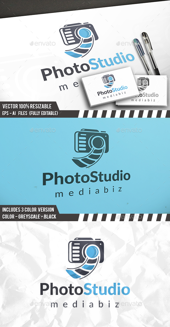 Raw Photo Logo - Objects Logo Templates