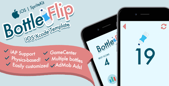 Bottleflip iOS Template - CodeCanyon Item for Sale