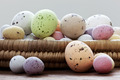 Easter eggs in a wicker basket - PhotoDune Item for Sale