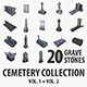 Gravestone collection vol. 1 + vol. 2 - 3DOcean Item for Sale
