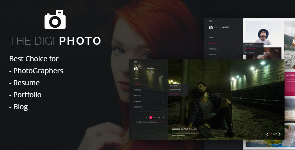 DigiPhoto Uniqe and Creative Photography / Resume / CV / Portfolio / Agency HTML Template