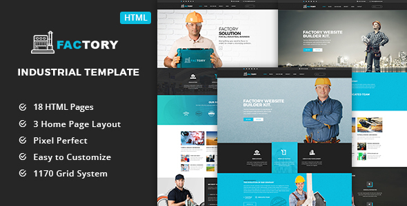 Factory – Industrial Business HTML5 Template