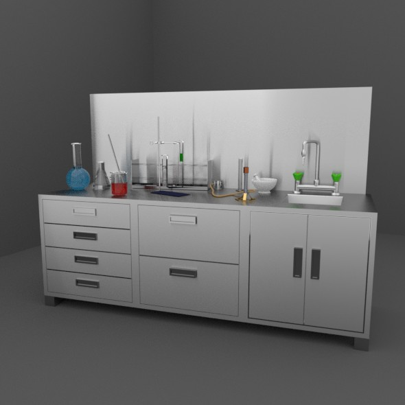 Chemistry Lab and Equipment - 3DOcean Item for Sale