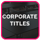 Corporate Titles - VideoHive Item for Sale