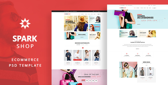 SPARK Shop -  e-Commerce PSD template - Shopping Retail
