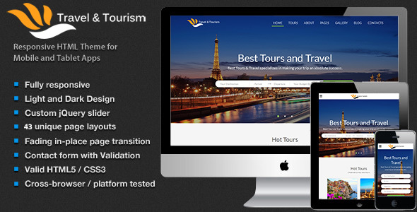 Travel – Tourism, Tour Booking HTML5 Template