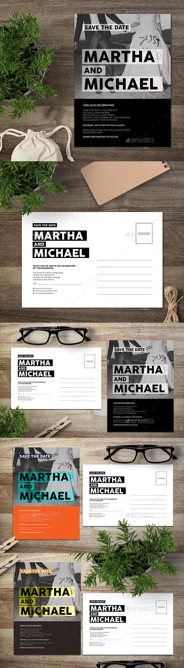 Wedding Postcard Invitation - Invitations Cards & Invites