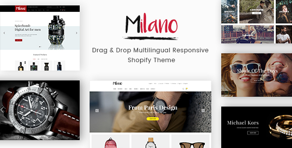 Milano - Drag & Drop Multilingual Responsive Shopify Theme - Fashion Shopify