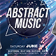Abstract Music Flyer Template - GraphicRiver Item for Sale