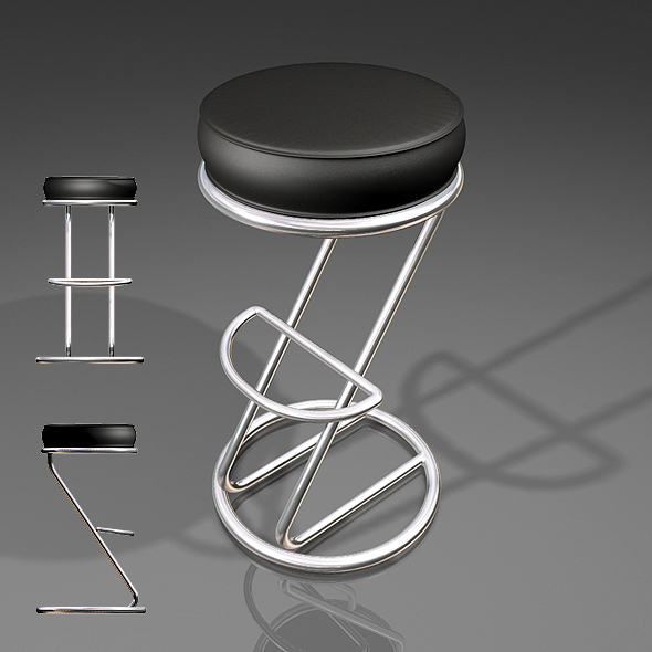 MR Bar Stool - 3DOcean Item for Sale
