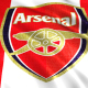 Arsenal Flag Loop Animation - VideoHive Item for Sale
