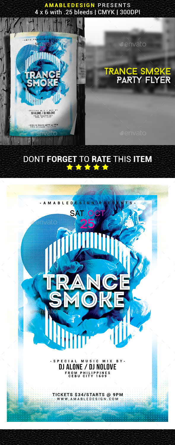 Trance Smoke Flyer/Poster - Events Flyers