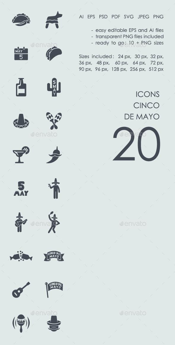 Cinco de Mayo Icons - People Characters