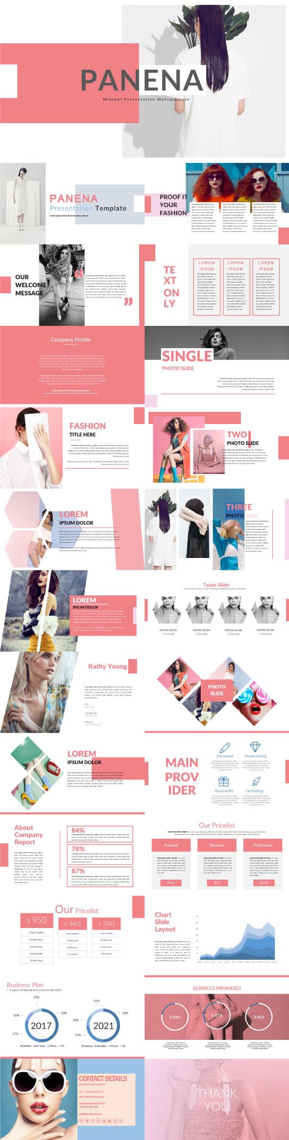 Panena Multipurpose Template - Creative PowerPoint Templates