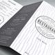 Michelin Stars Restaurant Trfiold Menu - GraphicRiver Item for Sale