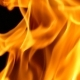 Flames Burning on Black Background - VideoHive Item for Sale