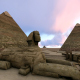 Pyramids and lion sculpture - VideoHive Item for Sale