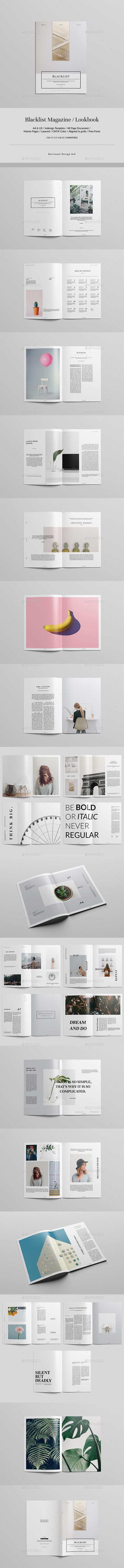 Blacklist Magazine / Lookbook - Informational Brochures