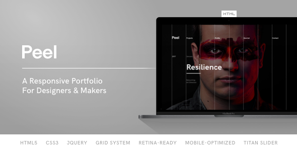 Peel – Portfolio Template For Creatives