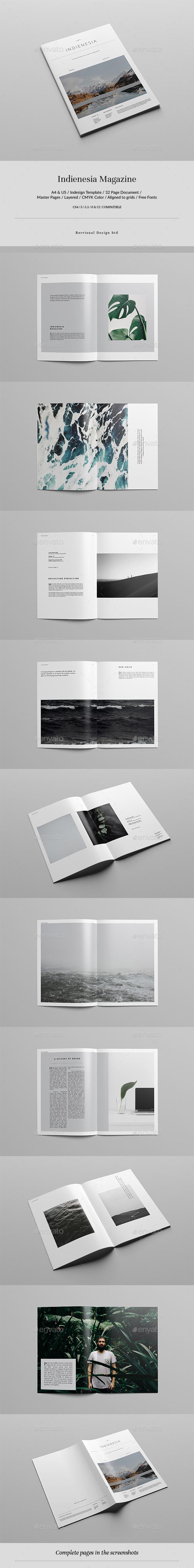 Indienesia Magazine - Magazines Print Templates