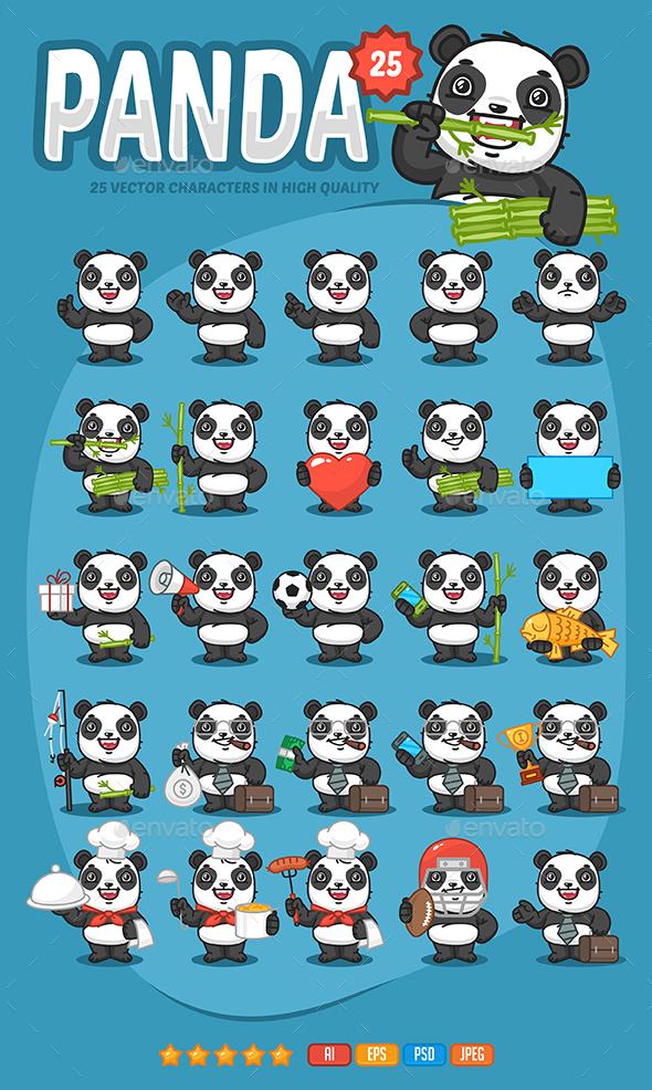 Panda Mascot Pack - Animals Characters