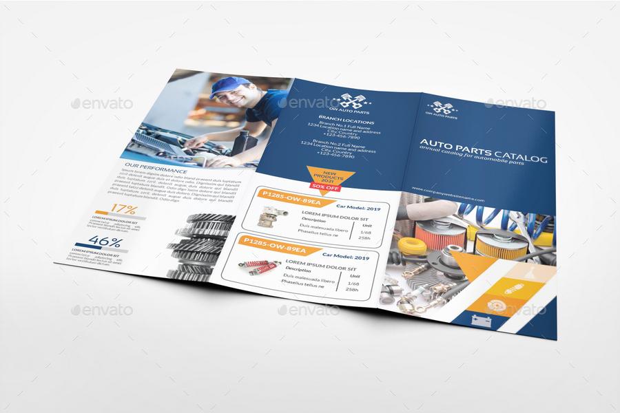 2 folded brochure template