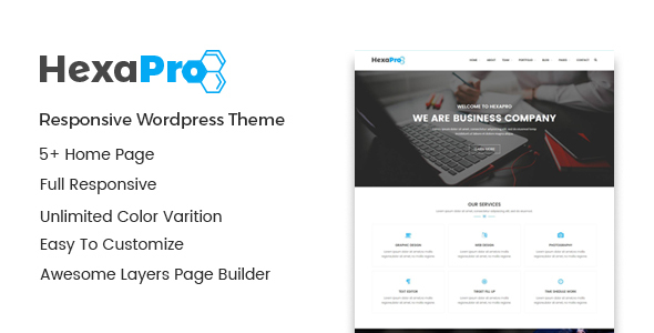 Image of Hexapro – Corporate WordPress Theme