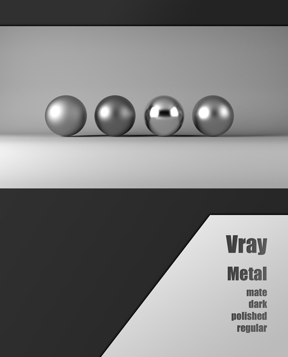Vray metal - 3DOcean Item for Sale