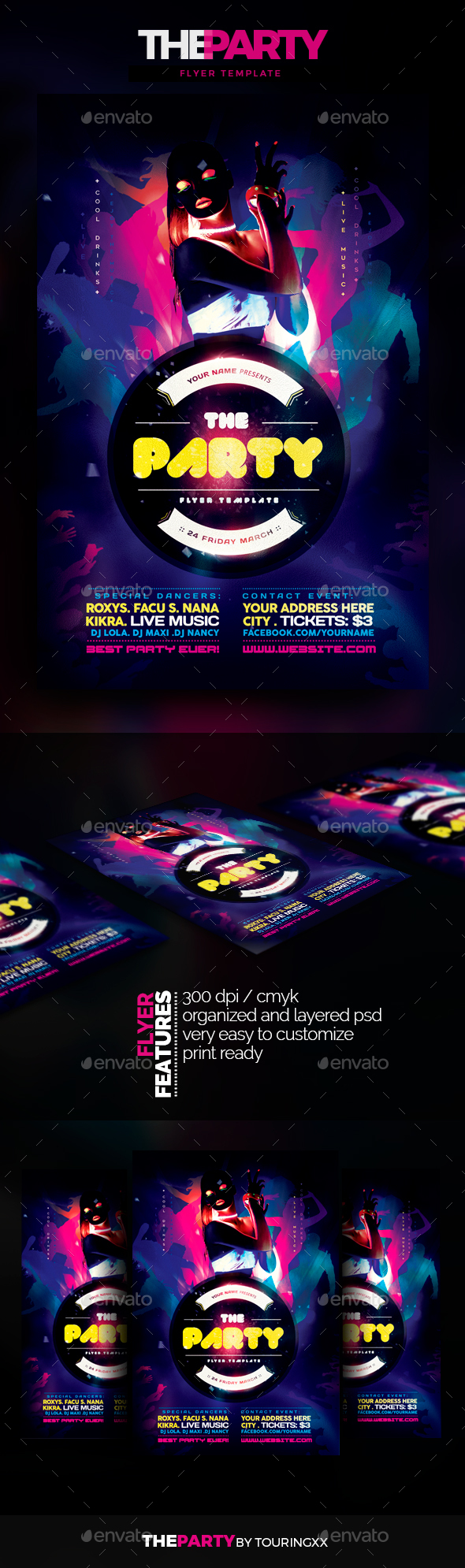 The Party Flyer Template - Clubs & Parties Events
