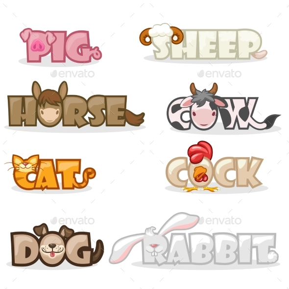 Animal Text Name - Animals Characters