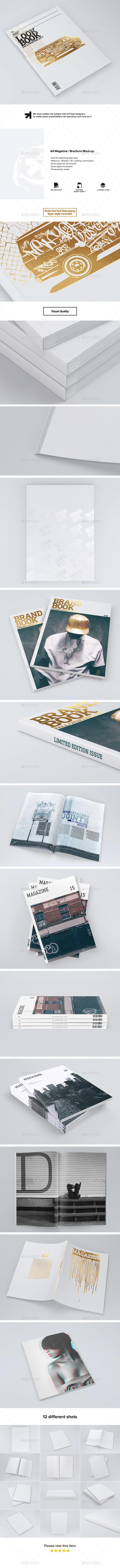 A4 Magazine / Brochure Mock-up - Magazines Print