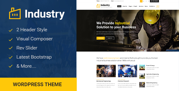Industry – Factory & Industrial Business WordPress Theme