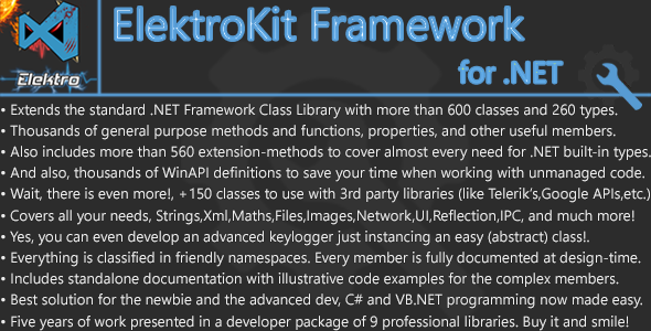 ElektroKit Framework for .NET - CodeCanyon Item for Sale