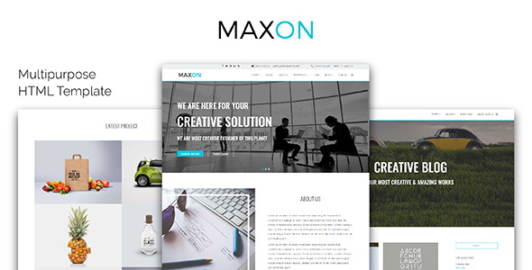 MAXON_Multipurpose HTML Template - Creative Site Templates