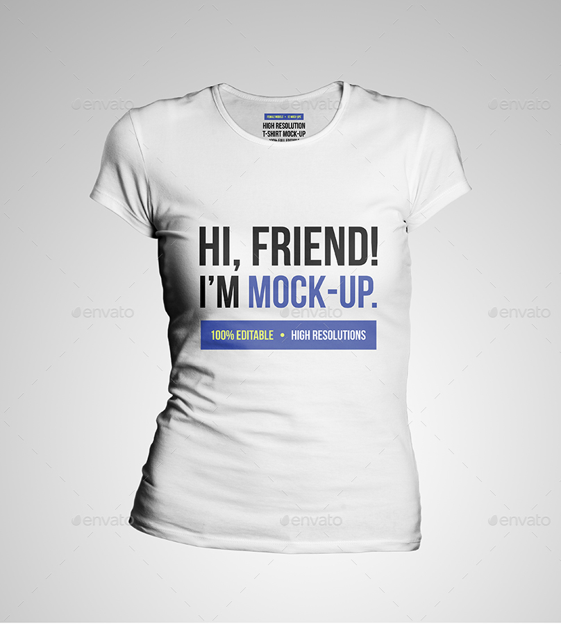 Women t shirt mockups by himockup graphicriver for Woman t shirt mockup