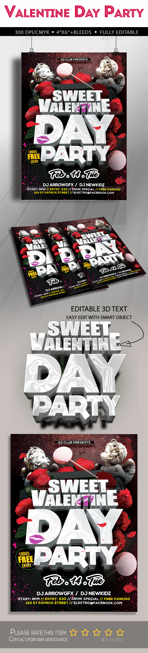 Valentine Day Flyer - Clubs & Parties Events