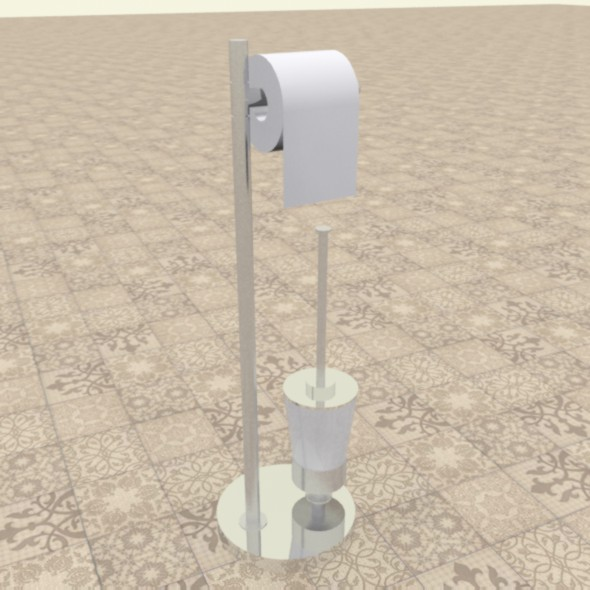 Toilet paper stand - 3DOcean Item for Sale