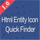 HTML Entity Quick Search