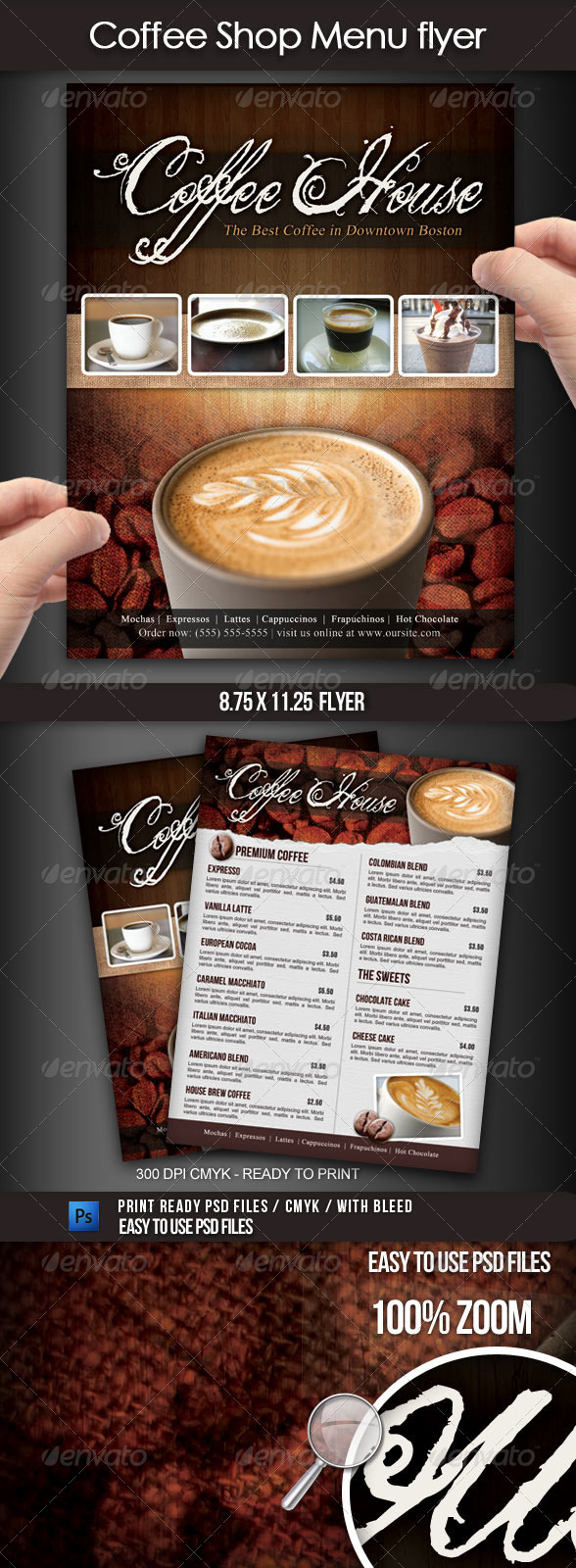 Coffee Shop Menu Flyer - Flyers Print Templates