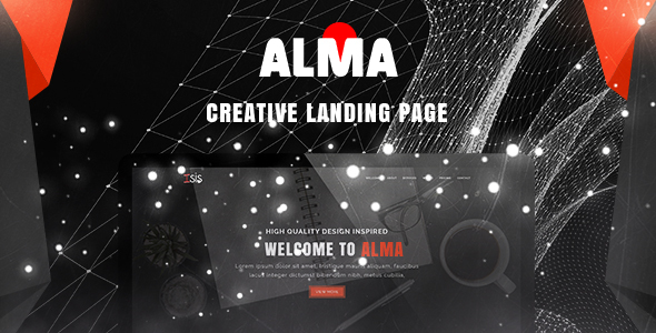 Alma – Simple & Creative Landing Page PSD Template