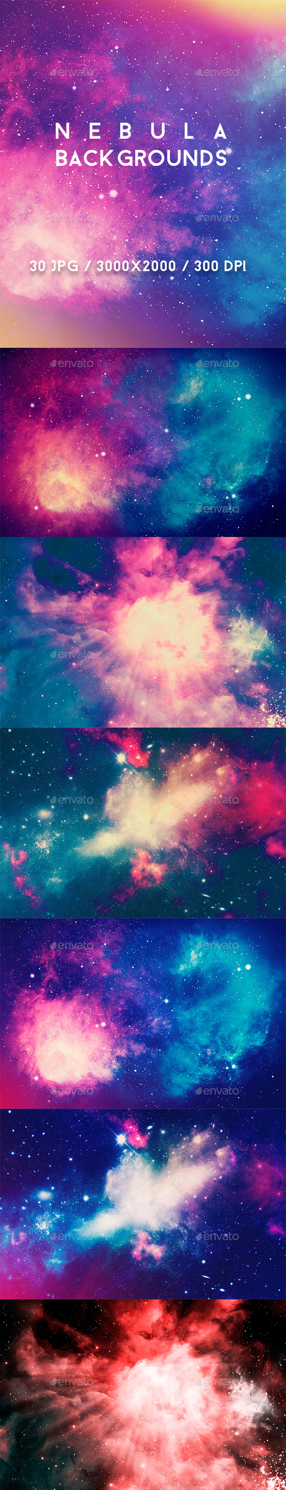 30 Nebula Backgrounds - Abstract Backgrounds