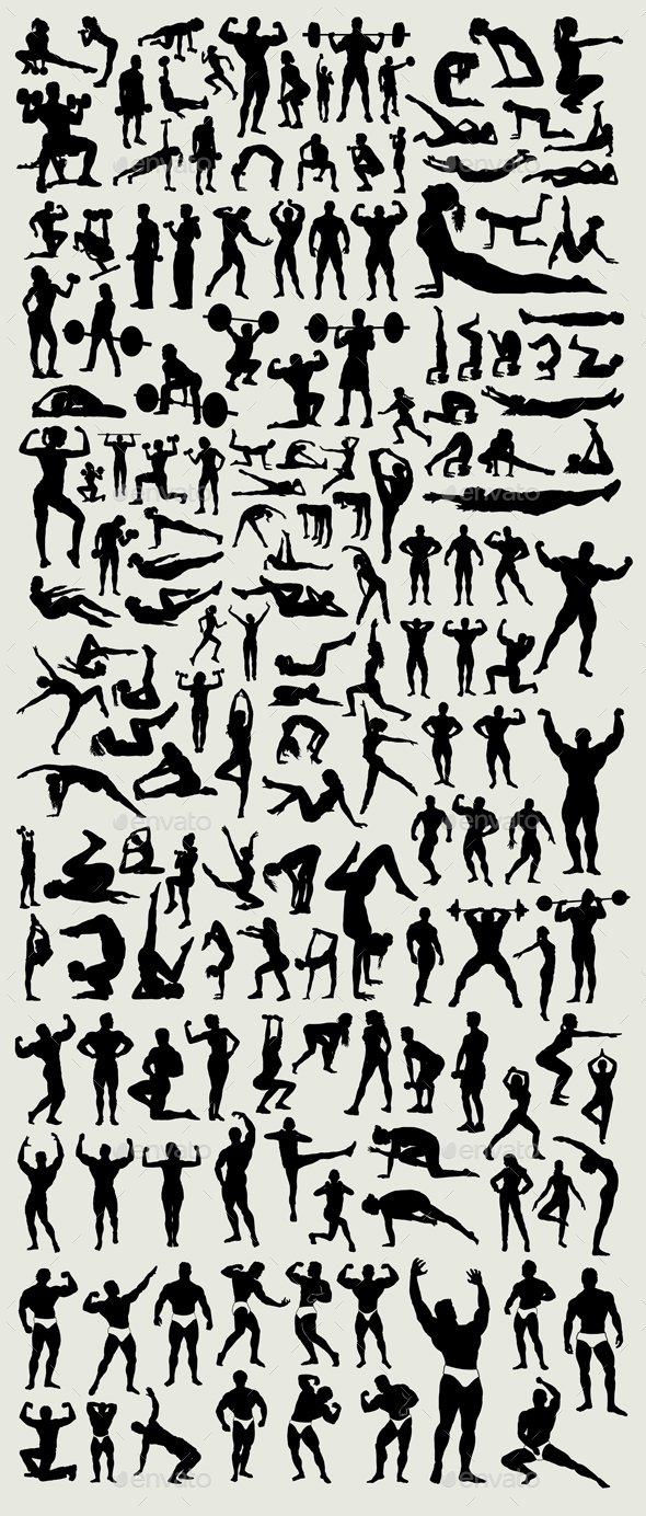 100+ Fitness silhouette - Sports/Activity Conceptual