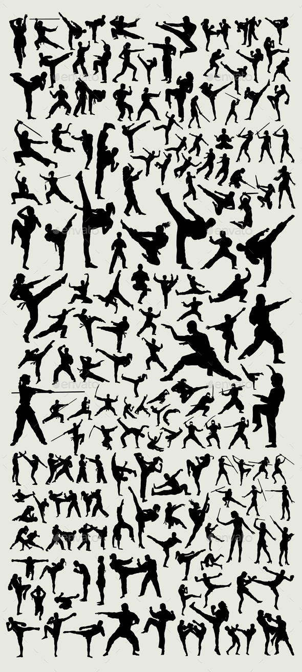 100+ Martial Arts Silhouette - Sports/Activity Conceptual