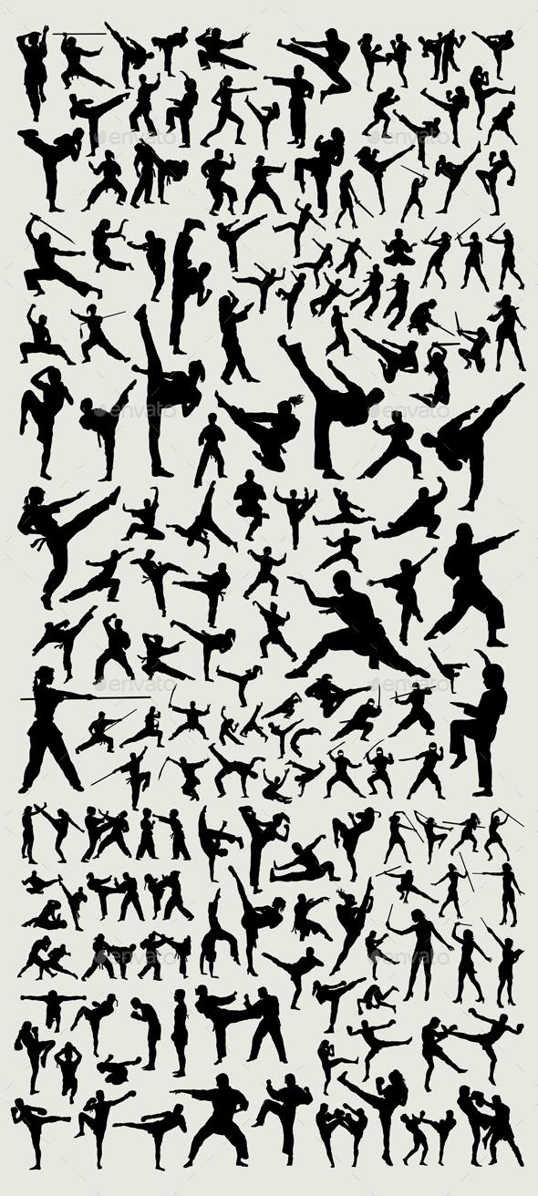 100+ Martial Arts Silhouette - Sports/Activity Conceptual